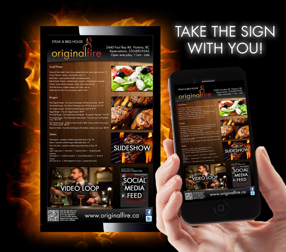 Menu Design & Restaurant Marketing - Original Fire ...
