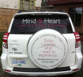Mind & Heart Fitness Vehicle Graphics