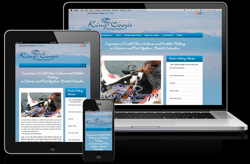 Fishing Charter Website Design